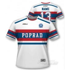 HK Poprad subli tričko Retro Collection - tmavá verzia - biela