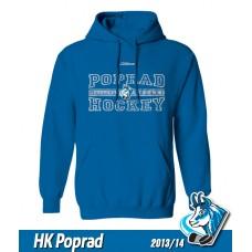 Detská mikina s kapucňou HK Poprad 2013/14 - royal modrá