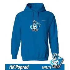 Detská mikina s kapucňou a výšivkou HK Poprad 2013/14 - royal modrá