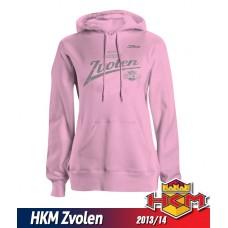 Dámska mikina s kapucňou HKM Zvolen 2013/14 vz. 2 - ružová