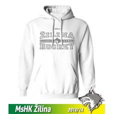 Bavlnená detská mikina s kapucňou MsHK Žilina 2013/14 - biela
