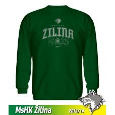 Bavlnená detská mikina MsHK Žilina 2013/14 - zelená