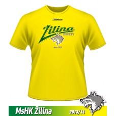 Detské tričko MsHK Žilina 2013/14 - retro - žltá