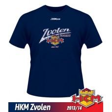 Detské tričko HKM Zvolen 2013/14 - retro - modrá–tmavomodrá