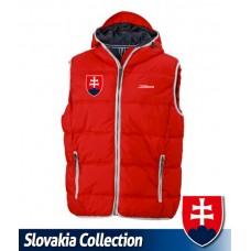 Bunda bez rukávov - Slovensko - červená