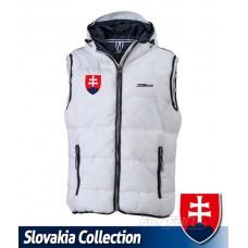 Vesta s výšivkou Slovensko - biela