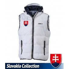 Bunda bez rukávov - Slovensko - biela