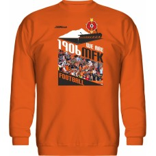 Mikina bez kapucne MFK Ružomberok 1 - oranžová