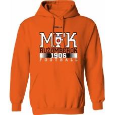 Mikina s kapucňou MFK Ružomberok 5 - oranžová