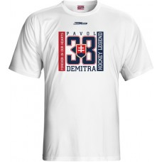 Tričko Pavol Demitra verzia 17 - biela