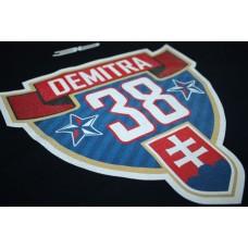 Tričko Pavol Demitra verzia 15 - modrá–tmavomodrá