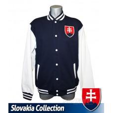 Univerzitná bunda Slovakia - modrá–tmavomodrá