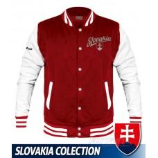 Univerzitná bunda Slovakia - retro - červená