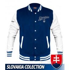 Univerzitná bunda Slovakia - retro - royal modrá