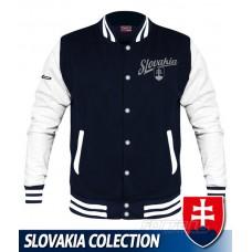 Univerzitná bunda Slovakia - retro - modrá–tmavomodrá