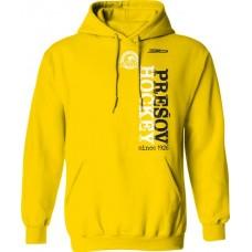 Bavlnená mikina s kapucňou PHK 3b Prešov New 2 - svetlo žltá