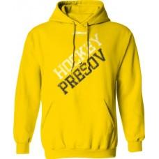 Bavlnená mikina s kapucňou PHK 3b Prešov New 4 - svetlo žltá