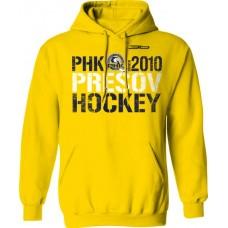 Bavlnená mikina s kapucňou PHK 3b Prešov New 7 - svetlo žltá