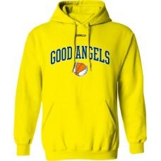 Mikina s kapucňou Good Angels vz. 2 - žltá
