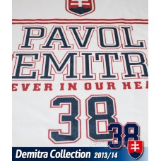 Tričko Pavol Demitra - Slovensko  verzia 12 - biela