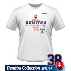 Tričko Pavol Demitra - Slovensko  verzia 10 - biela