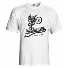 Tričko Motocross vz. 2 - biela