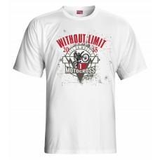 Tričko Motocross vz. 3 - biela