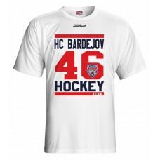 Tričko HC 46 Bardejov vz. 6 - biela