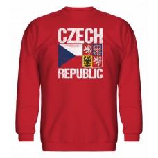 Mikina bez kapucne Czech vz. 14 - červená