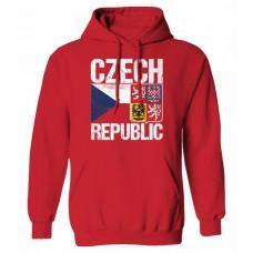 Mikina s kapucňou Czech vz. 14 - červená
