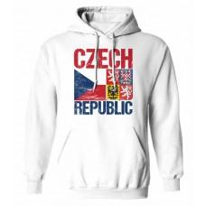 Mikina s kapucňou Czech vz. 14 - biela