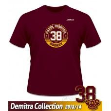 Tričko Pavol Demitra - DTverzia 4 - bordová