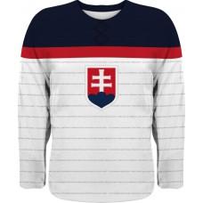 Hokejový dres Slovensko 0116 - biela