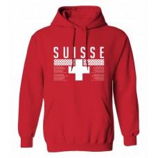 Mikina s kapucňou Švajčiarsko vz. 1 - červená