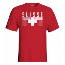 Tričko Švajčiarsko vz. 1 - červená