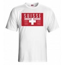 Tričko Švajčiarsko vz. 1 - biela