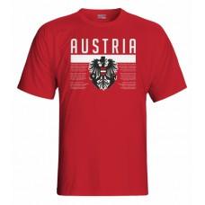 Tričko Rakúsko vz. 1 - červená