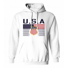 Mikina s kapucňou USA - biela