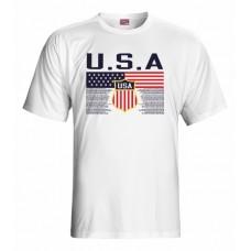 Tričko USA - biela