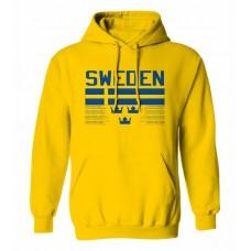 Mikina s kapucňou Švédsko vz. 1 - tmavo žltá