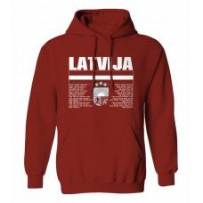 Mikina s kapucňou Lotyšsko vz. 1 - bordová