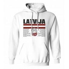 Mikina s kapucňou Lotyšsko vz. 1 - biela