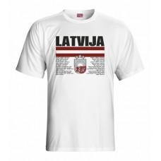 Tričko Lotyšsko vz. 1 - biela