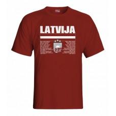 Tričko Lotyšsko vz. 1 - bordová
