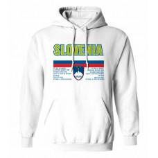 Mikina s kapucňou Slovinsko vz. 1 - biela