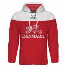 Sublimovaná mikina s kapucňou Dánsko tmavá
