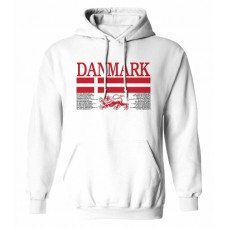 Mikina s kapucňou Dánsko vz.1 - biela
