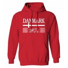 Mikina s kapucňou Dánsko vz.1 - červená