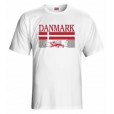 Tričko Dánsko vz. 1 - biela