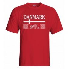 Tričko Dánsko vz. 1 - červená